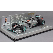 Miniatura F1 Minichamps Mercedes Schumacher 1/43 Gp 2010