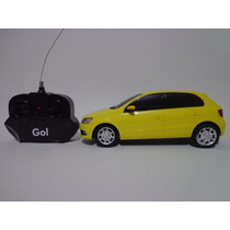Carro Controle Remoto Vw Gol 1/18 Cks Amarelo