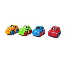 4 Mini Carrinhos Coloridos Cartoon De Fricção - Cim Toys