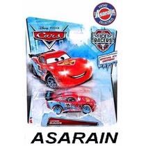 Disney Cars Ice Racers Mcqueen Gelo Neve Mattel