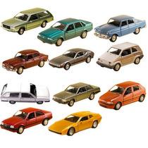 Kit Com 11 Carros Miniatura Metal Clássicos Nacionais