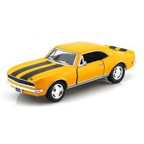 Carrinho Camaro Amarelo Z-28 1967 1/37 Ferro E Fricção