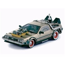 Delorean Time Machine Back To The Future 3 1:18 Sun Star