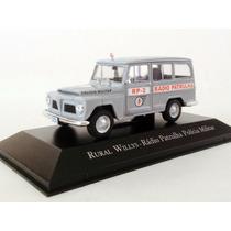 Miniatura Willys Rural Rádio Patrulha Pm 1:43 Ixo