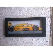 Ayrton Senna Lotus 99t Quadro 3 D Madeira Vidro