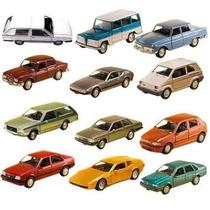 Coleção 12 Miniatura Carro Classicos Nacionais 3 Extra-11 Cm