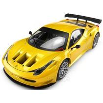 Ferrari 458 Italia Gt2 Amarelo Metalico 1:18 Hot Wheels