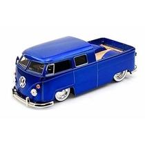Miniatura Volkswagen Bus Pickup Kombi 1963 Azul 1:24 Jada
