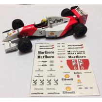 Decalque Lendas Brasileiras Mclaren Mp4/8 1:43 Ayrton Senna