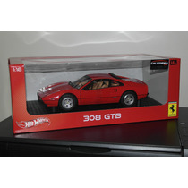 Ferrari 308 Gtb Vermelha Escala 1:18 Hot Wheels