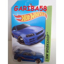 Hot Wheels Nissan Skyline Gt-r (r34) Workshop Dg Gariba58