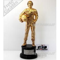 Troféu Banhado Em Ouro Ayrton Senna Especial 20 Anos Iguti