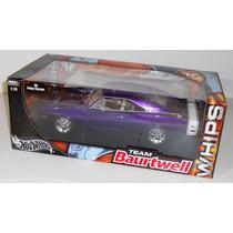 Mini Dodge Charger Rt 1969 Purple 1:18 Whips Hot Wheels Raro