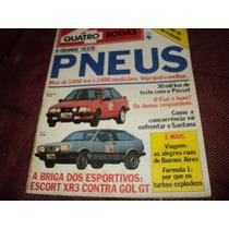 Quatro Rodas 287 Gol Gt X Escort Xr3 Teste 1984 Revista
