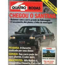 Revista Quatro Rodas Nº286 (santana, Alfa Ti, Chevette, Gol)