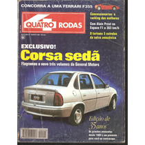 Revista Quatro Rodas Agosto De 1995 - N°421 - Corsa Sedã