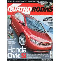 Quatro Rodas Nº559 Civic Si Chrysler 300c Srt8 Fielder 307sw