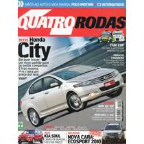 Quatro Rodas Nº594 Honda City Bmw 118i Mercedes E350 Soul C3