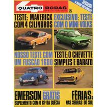 Quatro Rodas Nº179 Junho 1975 Maverick Fusca 1600 Chevette