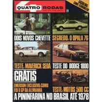 Quatro Rodas Nº181 Agosto 1975 Ford Maverick 4p Dodge 1800