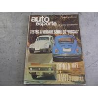 Auto Esporte Out/ 1970 Teste Fusca Fuscão Dart