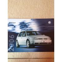 Raro Folheto Folder Simples Do Vw Golf Flash Ano 2006