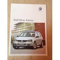 Folheto Folder Ficha Técnica Vw Golf Silver Edition 2010