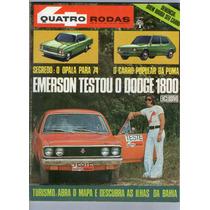 Revista 4 Quatro Rodas 152 Março 1973 Opala Puma Dodge R403