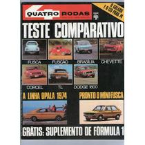 Revista 4 Quatro Rodas 157 Agosto 1973 Fusca Corcel Tl R403