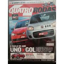 Revista Quatro Rodas 605 Jun/10 Uno Gol Agile Fiesta Amarok