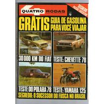 Revista 4 Quatro Rodas N°206 Setembro 1977 Chevette 78 R417