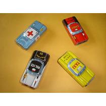 Conjunto De Quatro Carrinhos Japoneses De Lata - Anos 70