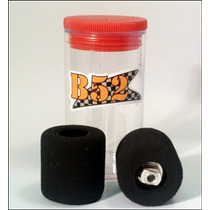 Autorama Pneu Tras. B52 Fish Rubber 9.50mm Nylon 3/32 Bolha