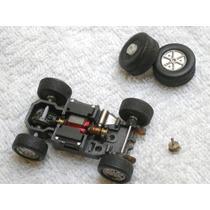Autorama (estrela ?) Tyco - Chassis + 2 Rodas