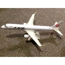 Miniatura Maquete Avião Comercial Jal Embraer 190 Resina