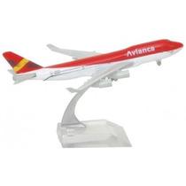 Avião Miniatura Avianca Ou Alitalia Pronta Entrega