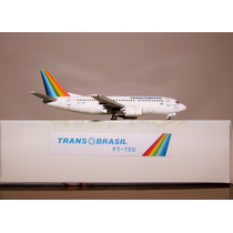Avião Boeing 737-300 Transbrasil Aeroclassics 1:400