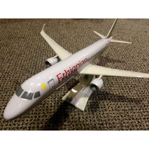 Miniatura Maquete Avião Comercial Ethiopian Embraer 190