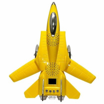 Caixa Caixinha De Som Banco Amarelo Mp3 Usb Micro Sd P2
