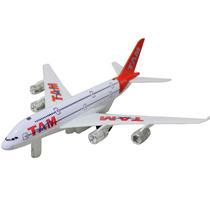 Avião Tam Brinquedo Acende A Luz Fricção, Som E Luz