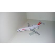 Maquete Em Resina Avião Fokker 100 Swissair