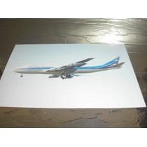 ( L - 380 ) F-76 Foto Do Avião 747-200 Aerolineas Argentinas
