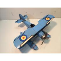 Miniatura Metal Retro Hidro Avião Antigo Vintage Monohélice