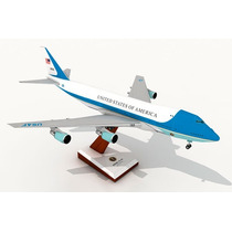Exclusiva Maquete Para Montar Do Avião 747 Air Force One!!!