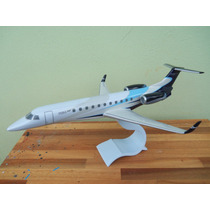 Avião Embraer Legacy 600 House Colors 35cm Miniatura Maquete