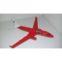 Maquete Do Avião Erj-190 Time Coração São Paulo