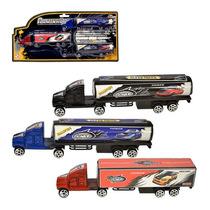 Mini Caminhão Com 3 Peças 31,5x15x2,7cm