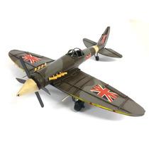 Aviao Militar Decorativo Vintage Retro Gerra Metal Latao