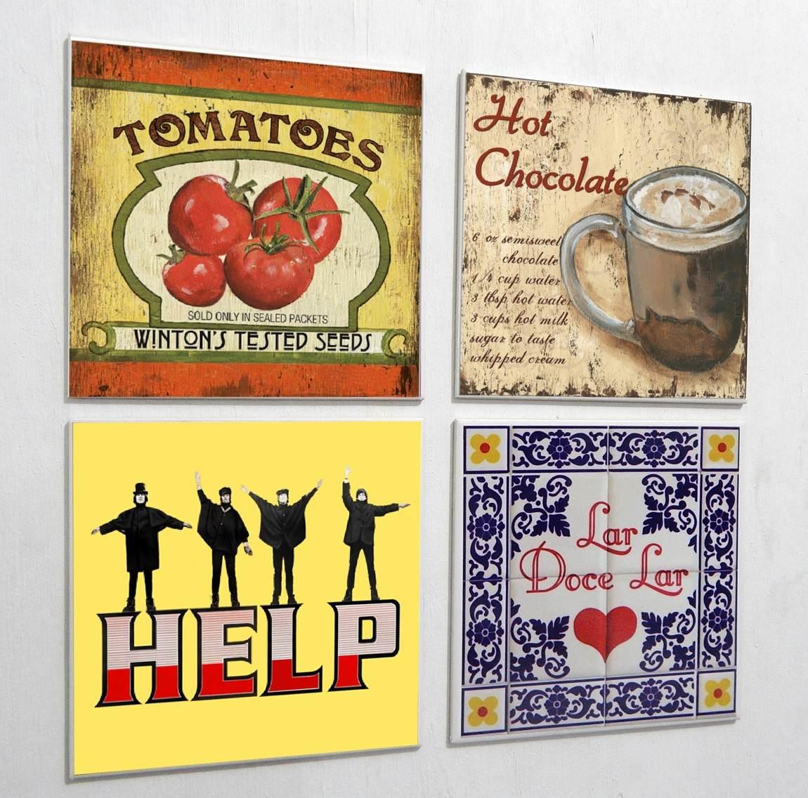 Azulejo Decorados Temas Retro Vintage R$ 9 00 no MercadoLivre #B49817 1150x1136 Banheiro Com Azulejo Retro