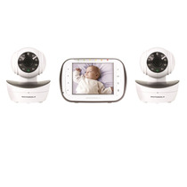 Motorola Mbp43/2 Digital Video Baby Monitor Com 3 Cameras